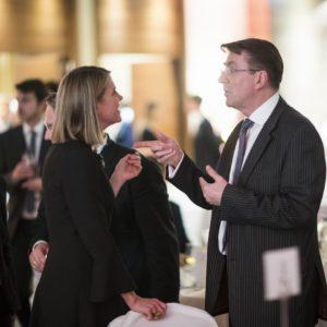 Colleen Bell, Ambassador of USA to Hungary, Iain Lindsay, Ambassador of UK to Hungary