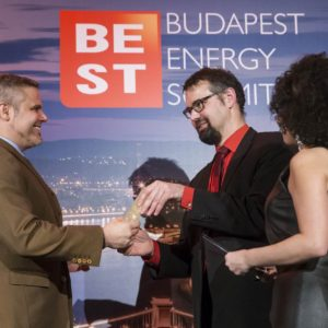 Young Energy CEO of the Year Gergő Lencsés GE Power, Laszlo Varró, IEA